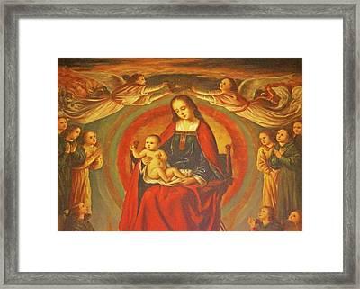 Queen Of Heaven Framed Print by Munir Alawi