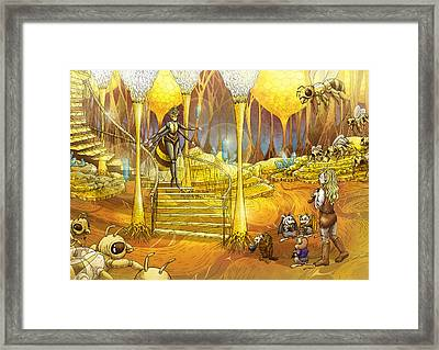 Queen Of The Hive Framed Print