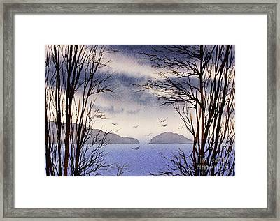 Framed Print featuring the painting Quiet Shore by James Williamson