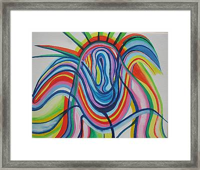Framed Print featuring the painting Radiant Bloom by Erika Swartzkopf
