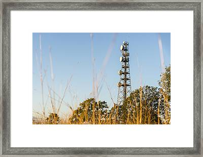Radio Tower In Queensland Framed Print