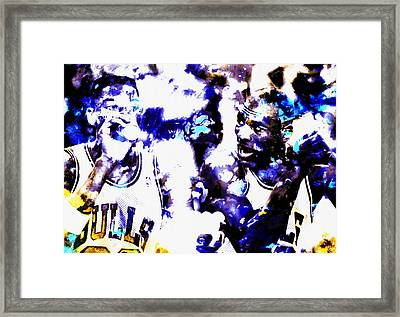 Raging Bulls Framed Print