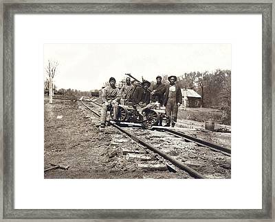 Railroad Workers Framed Print