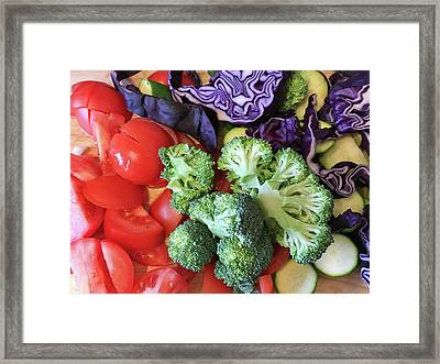 Raw Ingredients Framed Print by Tom Gowanlock