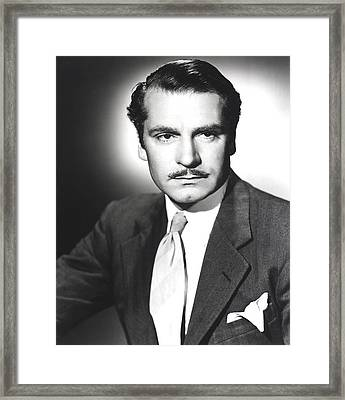 Rebecca, Laurence Olivier, 1940 Framed Print