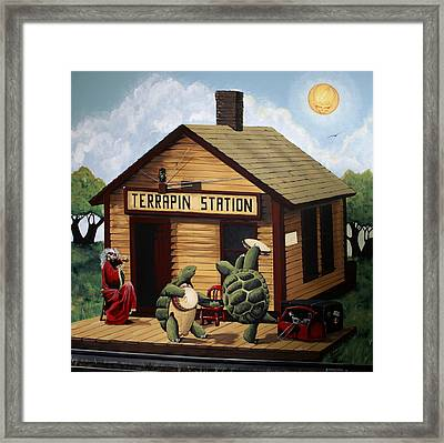 Recreation Of Terrapin Station Album Cover By The Grateful Dead Framed Print