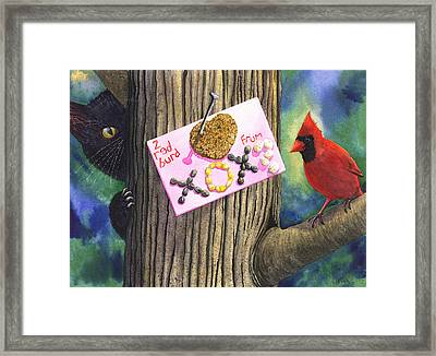 2 Red Burd Framed Print by Catherine G McElroy
