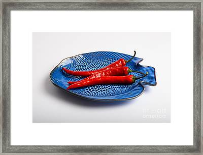 Red Chili Pepper Framed Print by Photo Researchers, Inc.