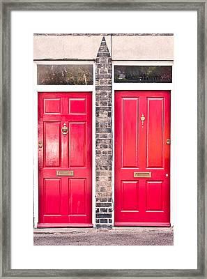 Red Doors Framed Print