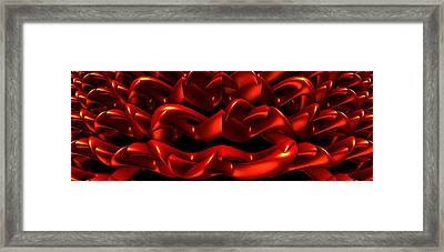 Framed Print featuring the digital art Red by Lyle Hatch