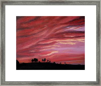 Red Skies Framed Print by Michelle Fayant