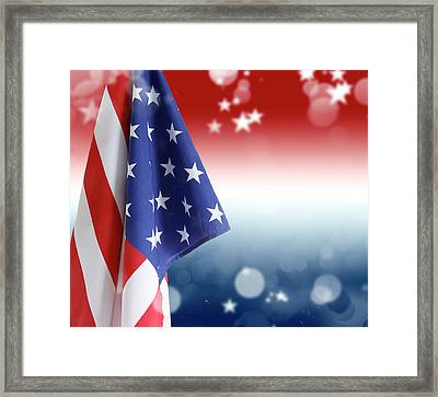 Red White And Blue Framed Print by Les Cunliffe