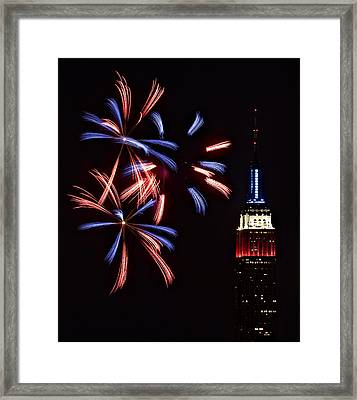 Red White And Blue Framed Print by Susan Candelario