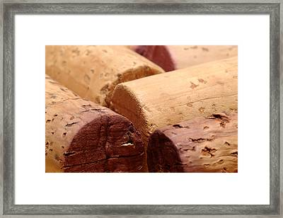 Red Wine Corks Framed Print