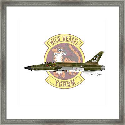 Republic F-105g Thunderchief 561tfs Framed Print