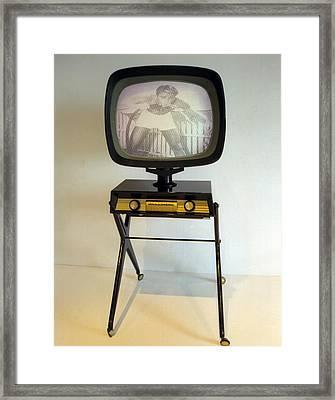 Retro Tv Framed Print by Matthew Bamberg