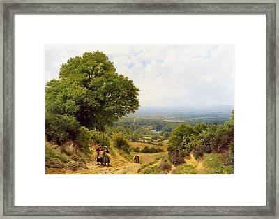 Returning From The Harvest Framed Print