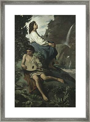 Ricordo Di Tivoli Framed Print by Anselm Feuerbach