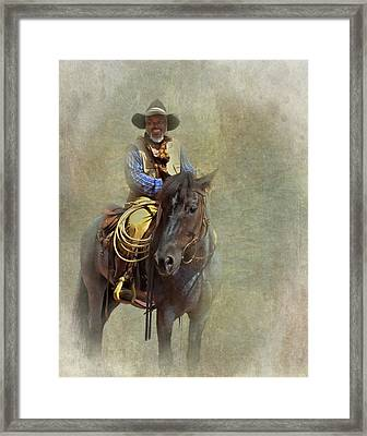 Framed Print featuring the photograph Ride Em Cowboy by David and Carol Kelly