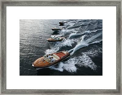 Riva Aerial Framed Print