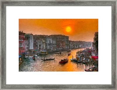 Framed Print featuring the photograph Riva Del Ferro. Venezia by Juan Carlos Ferro Duque