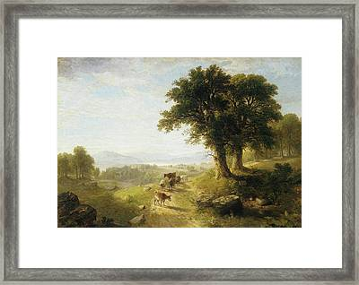 River Scene Framed Print by Asher Brown Durand