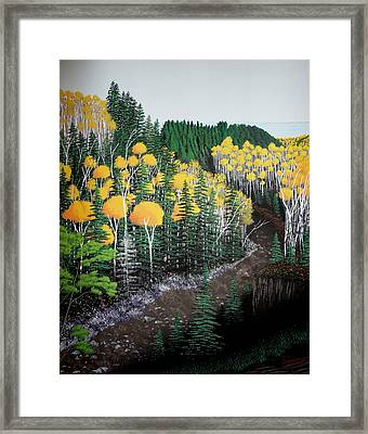 River Through Golden Forest Framed Print by Dan Shefchik