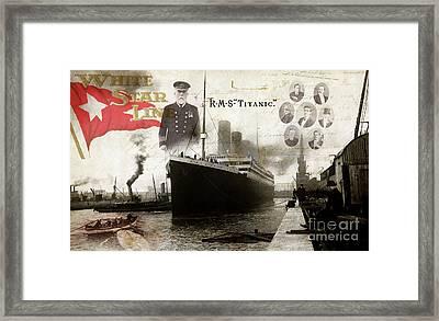 Rms Titanic Framed Print by Jon Neidert