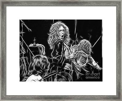 Robert Plant Led Zeppelin Framed Print by Marvin Blaine