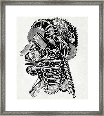 Robot Science-fiction Artwork Framed Print by Cci Archives
