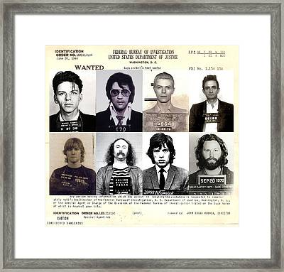 Rock And Roll's Most Wanted Framed Print by Lee Dos Santos