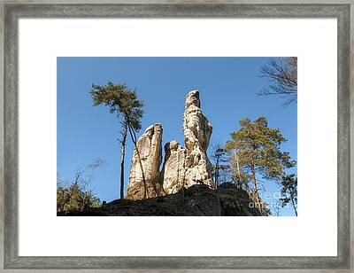 Framed Print featuring the photograph Rock Formations In The Bohemian Paradise Geopark by Michal Boubin