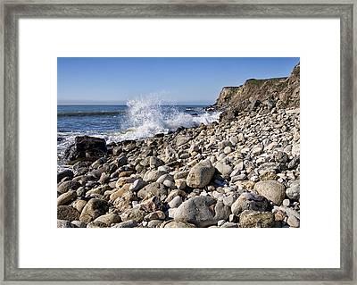 Rocky Bay Framed Print by Shirley Mitchell