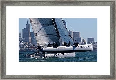 Rolex Big Boat Series Start Framed Print by Steven Lapkin