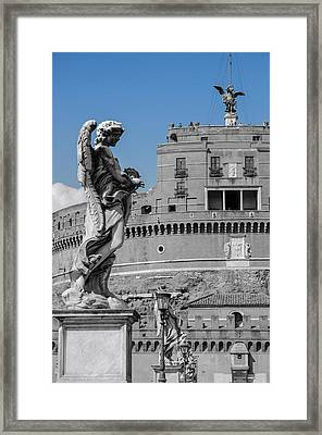 Rome - Mausoleum Of Hadrian Framed Print by Andrea Mazzocchetti
