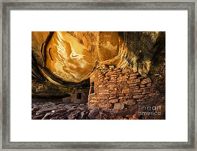Roof Falling In Ruin Framed Print by Bob Christopher