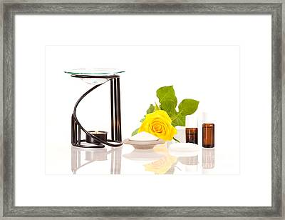 Room Fragrance With Aroma Lamp And Aroma Stones Framed Print by Wolfgang Steiner