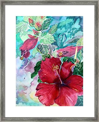 Rose Of Sharon Framed Print by Mindy Newman