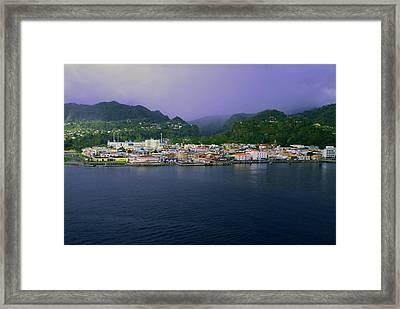 Roseau Dominica Framed Print