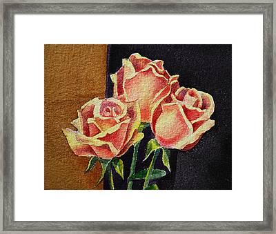 Roses   Framed Print by Irina Sztukowski