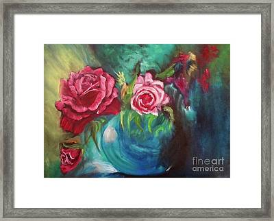 Roses One Of A Kind Handmade Framed Print