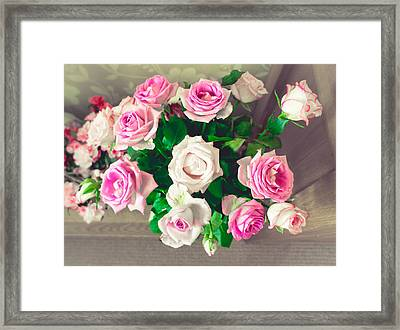 Roses Framed Print by Tom Gowanlock