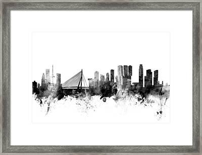 Rotterdam The Netherlands Skyline Framed Print by Michael Tompsett