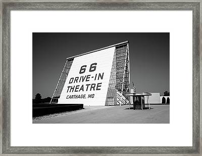 Route 66 - Drive-in Theatre Framed Print by Frank Romeo
