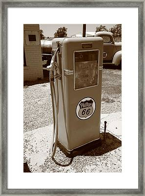 Route 66 Gas Pump Framed Print