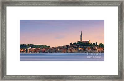 Rovinj Is A City On The Istrian Peninsula, Croatia Framed Print