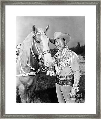 Framed Print featuring the photograph Roy Rogers by Granger