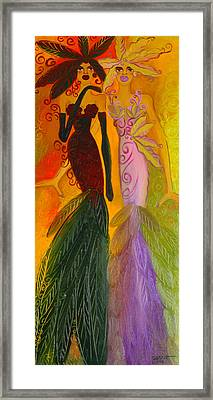 Ruby And April  Framed Print by Helen Gerro