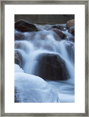 Running Stream Framed Print by Maureen Bates