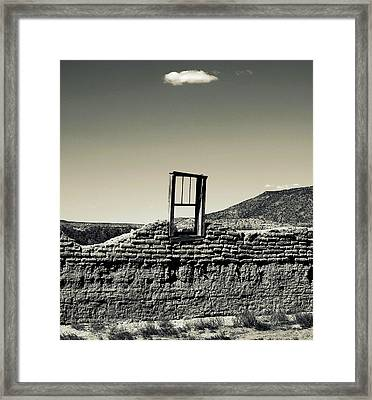 Sacred Window  Framed Print
